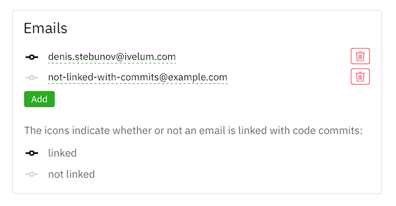 Commit emails